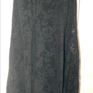 Billabong Designers Closet Black Lace Skirt